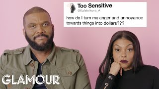 Taraji P. Henson and Tyler Perry Give Advice to Strangers on the Internet | Glamour