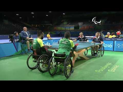Table Tennis | FRA v BRA | Men's Team Semifinals Class 1/2 M1 | Rio 2016 Paralympic Games