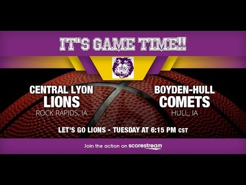 Varsity Basketball: Central Lyon vs Boyden-Hull