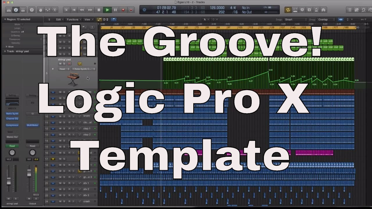 Nice logic pro template inspiration professional resume examples logic pro x template the groove house tech style youtube maxwellsz