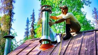 Lakeside Alaskan Cabin | Wood Stove Install (Part 2)