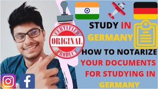How To Notarize Y๐ur Documents For Studying In Germany|| Notarize Docs for sending it to University