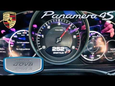 Porsche Panamera 2017 4S Diesel ACCELERATION 0-250 km/h by AutoTopNL