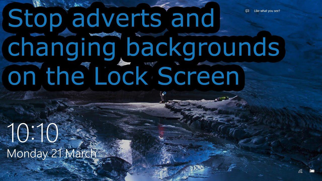 windows 10 how to change lock screen