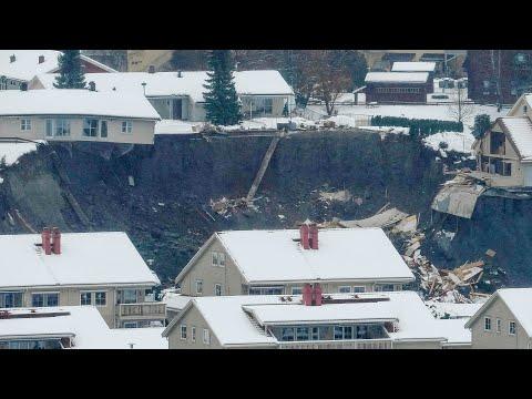 Landslide hits residential area in Norway, leaving 21 people missing