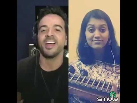 Despacito smule on Indian Veena by Ranjani mahesh