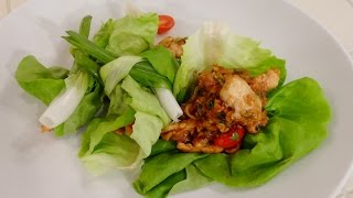 Chicken And Cashew Lettuce Wrap