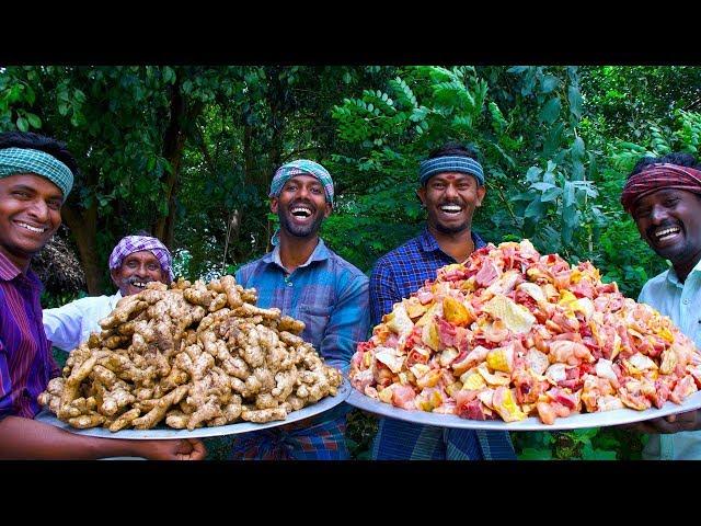 GINGER CHICKEN Recipe | Country Chicken Gravy Cooking In Village | South Indian Chicken Recipe