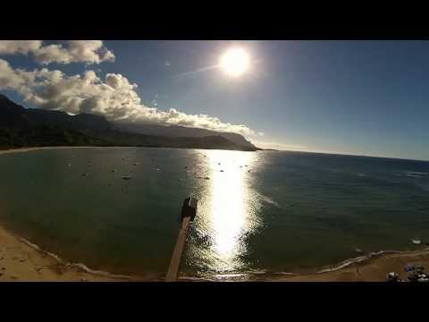 Flight by DJI Phantom Hanalei Bay Kauai 2013 - Hawaii