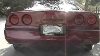 Corvette in the park C4 with Borla Exhaust