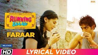 Faraar Lyrical Running Shaadi Jubin Nautiyal Taapsee Pannu Amit Sadh