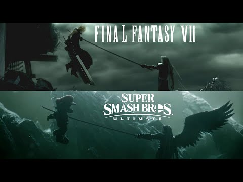 Super Smash Bros Ultimate vs. Final Fantasy 7 Advent Children (Comparison)