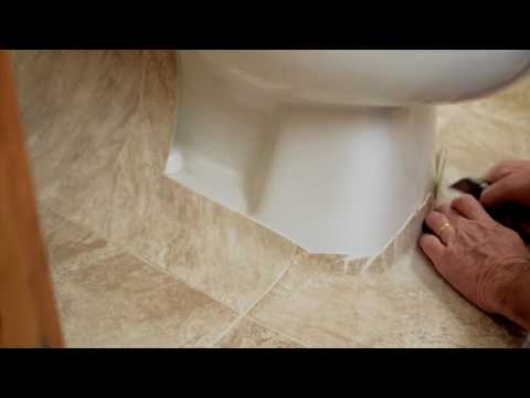 How To Install Sheet Vinyl Around A Toilet Youtube