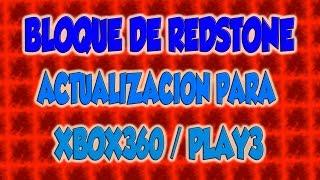   REDSTONE MINECRAFT   BLOQUE DE REDSTONE PARA XBOX / PLAY3