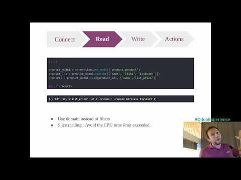 Connect External Tools with the API - Odoo Experience 2017