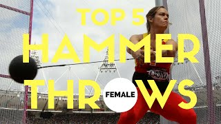 Top 5 | Hammer Throws | Hammer Throw World Records (Women)