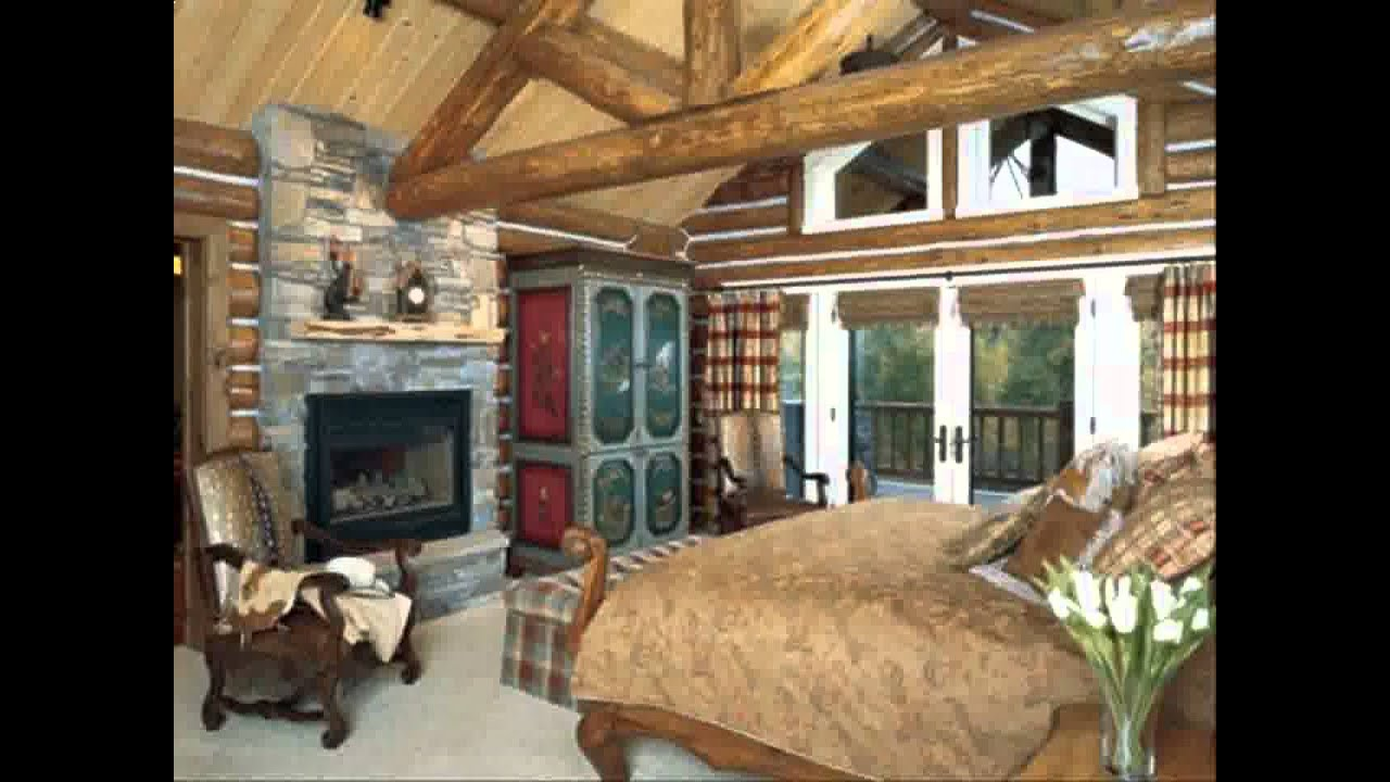 Home Log cabin decorating ideas - YouTube