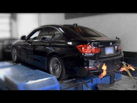 2013 BMW 335i X-Drive N55 Dyno Baseline vs  Mods Comparison