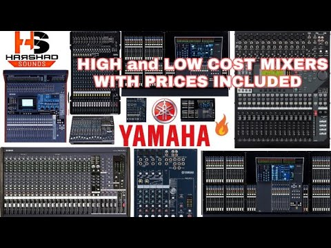 YAMAHA all high and low cost mixers with prices