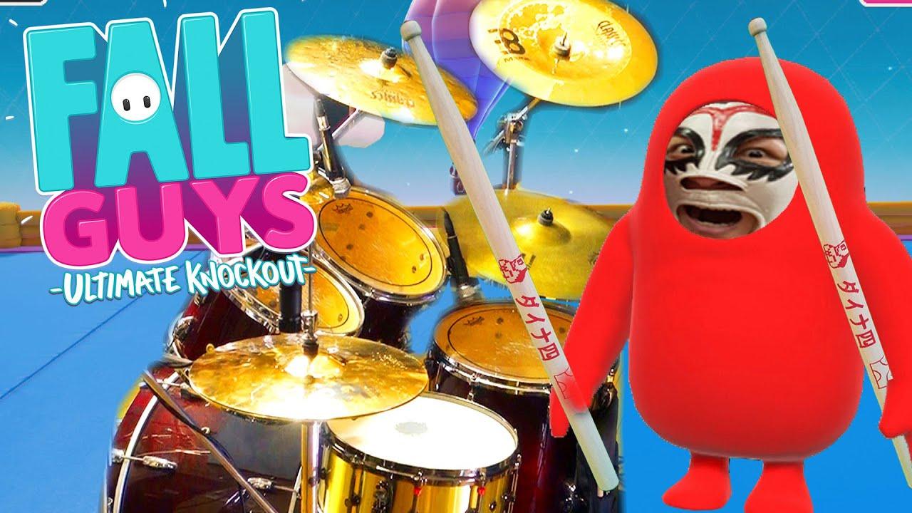 【Fall Guys BGMメドレー】ドラム 激しく叩いてみた!Fall Guys - Songs Cover on Drums