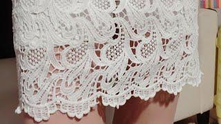 Подбираем схемы для вязания кружевной юбки