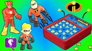 Incredibles TOYS Play Perfection POP Game! by HobbyKidsTV
