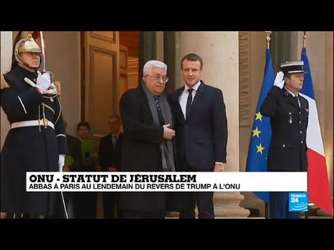 E. Macon rencontre M. Abbas - La France comme médiateur au Proche Orient ?