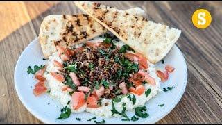 Crispy Chilli Lamb and Butterbean Hummus Recipe #Ad