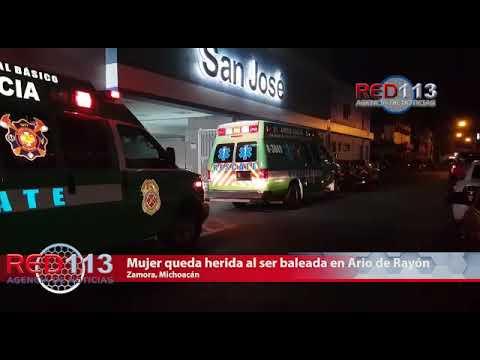VIDEO Mujer queda herida al ser baleada en Ario de Rayón