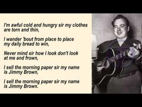 Mac Wiseman - Jimmy Brown The Newsboy with Lyrics