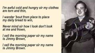 Mac Wiseman - Jimmy Brown The Newsboy with Lyrics