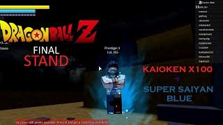 Roblox Dragon Ball Z Final Stand- Saiyan and Human Fusion (Kaioken X100 and SSJ Blue)
