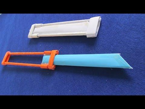 Видео Как сделать складной нож с помощью бумаги - бумаги нож - Игрушка меч