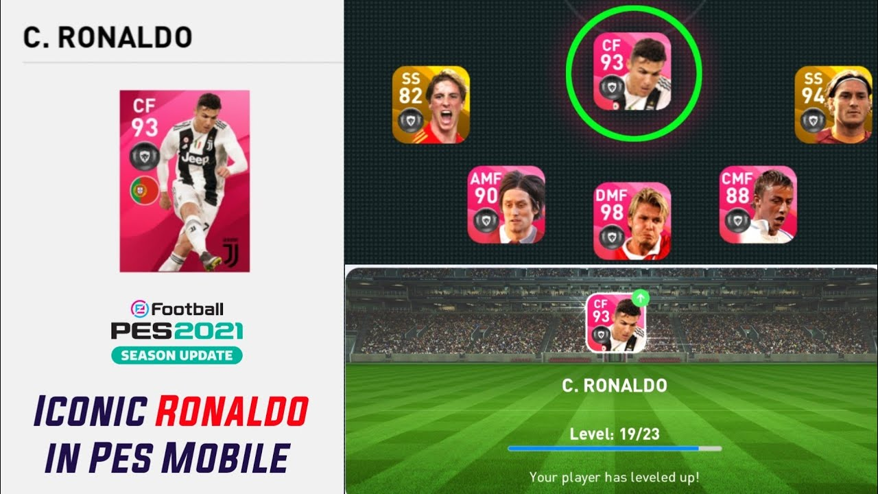 ICONIC MOMENT - RONALDO First Gameplay and Trailer | E Football Pes 2021 Mobile in Pes 2020 Mobile