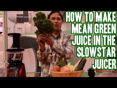 How to Make Mean Green Juice Recipe & Fresh Salsa in the Slowstar Juicer