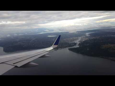 United 757 300 Landing in Seattle Tacoma Airport