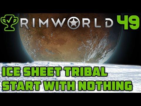 Ambushed by Mechanoids - Rimworld Ice Sheet Tribal Ep  49