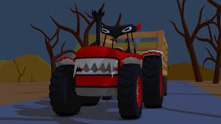 Dracula Tractor | Tractor On Halloween | Toy Factory for Kids | Traktor Bajka Dla Dzieci ☺ Bazylland