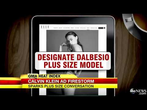 Calvin Klein `Plus Size Model` Sparks Controvers. http://bit.ly/2MFPP4N