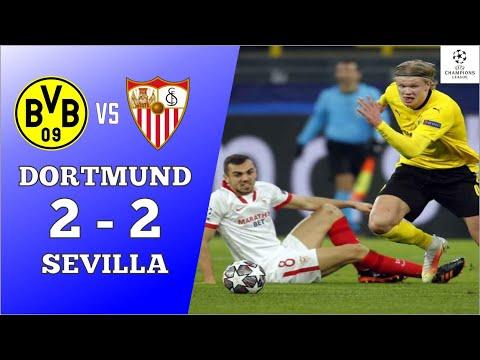 Dortmund Vs Sevilla 2-2 | Extended Highlights And Goals 2021 | Haaland Skor 2 Goal