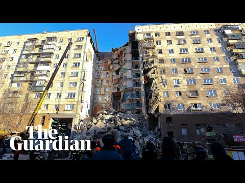 Tower block collapse in Russia leaves four dead and dozens trapped