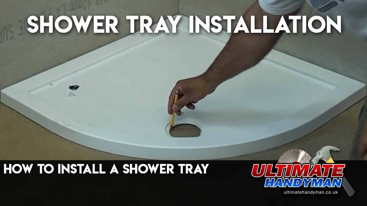 Charmant How To Install A Shower Tray   YouTube
