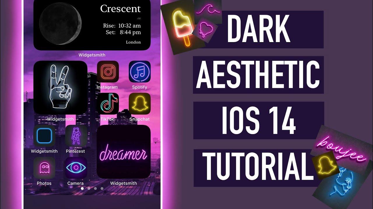 How To Create Dark Baddie Aesthetic On Ios 14 Iphone Customisations Youtube