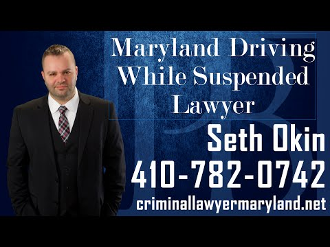 What to know if you've been cited for driving on a suspended license in Maryland.