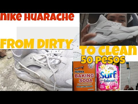 How to clean white shoes  | NIKE HUARACHE | TAGALOG TUTORIAL |