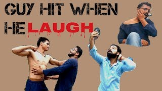 2017 fight when boy laugh he hit people funny action..