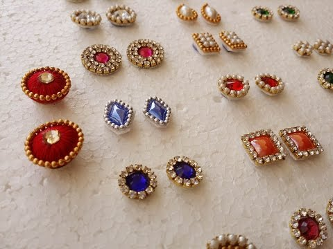 Making Of Earring Studs Patches At Home Tutorial