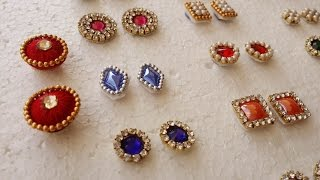 making of  Earring Studs / Patches at Home | Tutorial