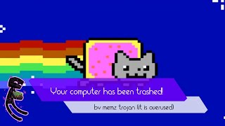 Your computer has been trashed by the MEMZ trojan. Now enjoy the nyan cat...