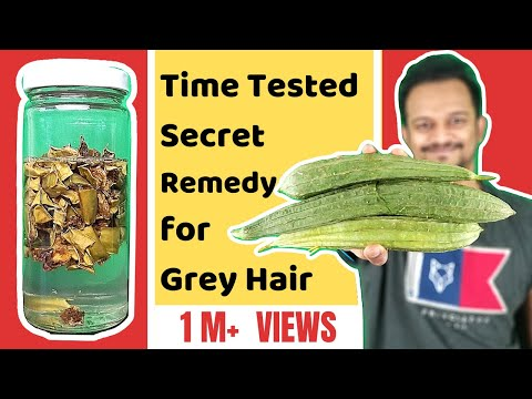 ⭐ Time Tested Oil That Reverse Grey Hair From Roots, Ridge Gourd Oil For Grey Hair, Grey Beard